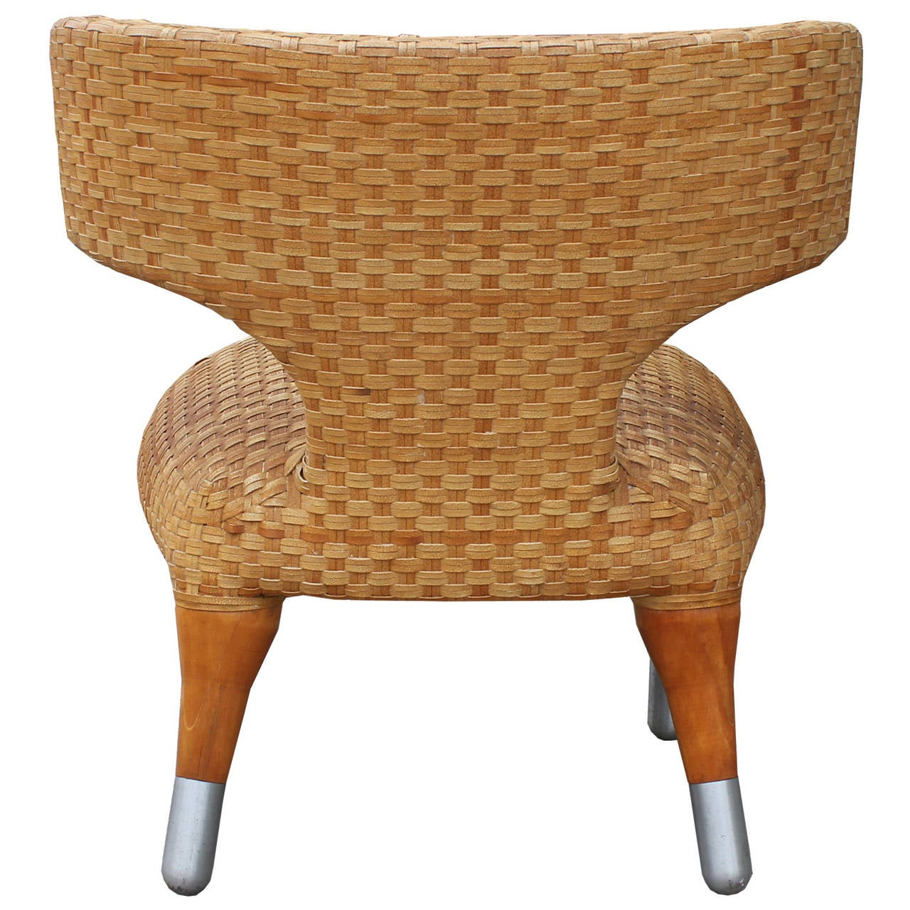 Klismos Side Chair in Woven Leather at 1stdibs