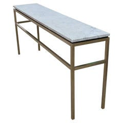 Stunning Solid Brass and Marble Console