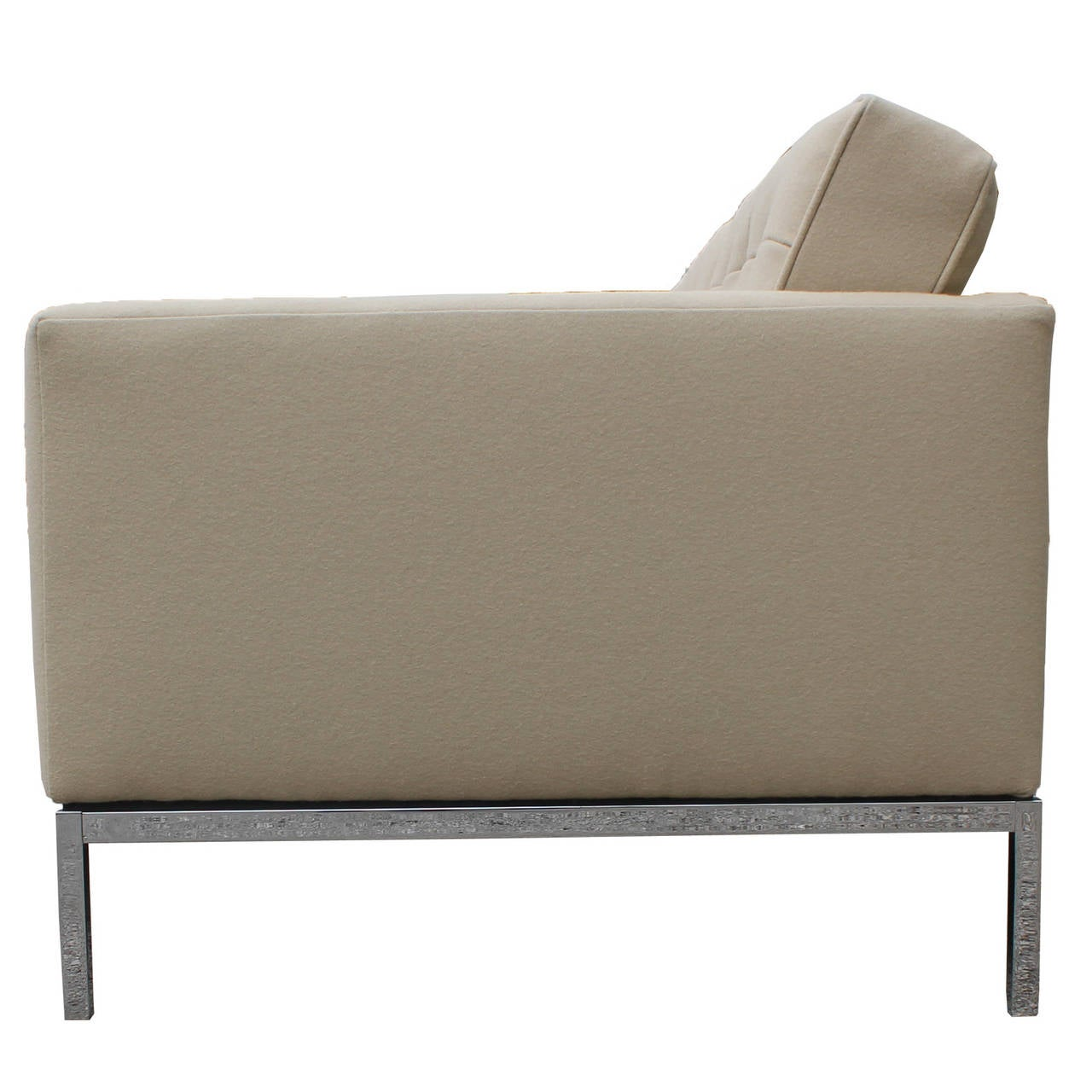 Florence Knoll Sofa Upholstered In Neutral Divina Wool At 1stdibs