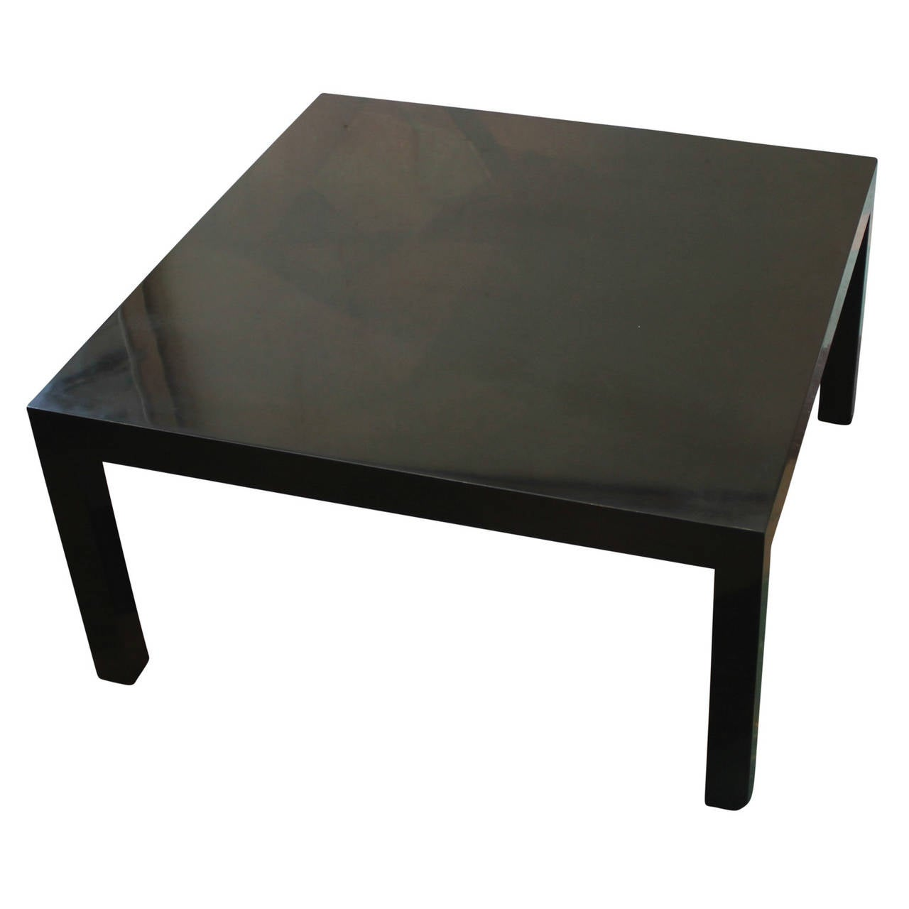 Dunbar Black Lacquer Parsons Style Cocktail Table At 1stdibs