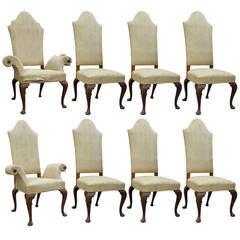 Important Set of Eight Early Hollywood Regency Dining Chairs