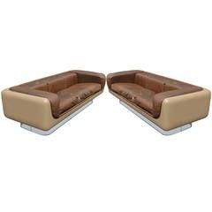 Superb Pair of William C. Andrus for Steelcase Sofas
