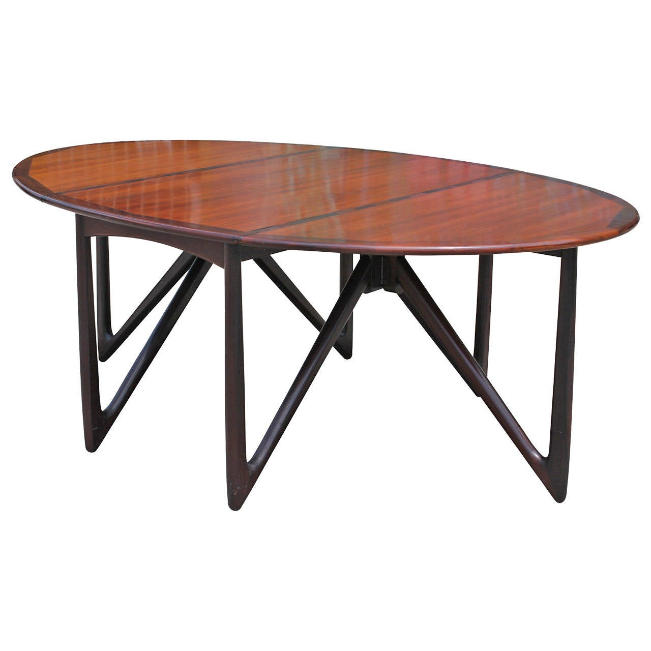 kurt ostervig gateleg rosewood dining table at 1stdibs