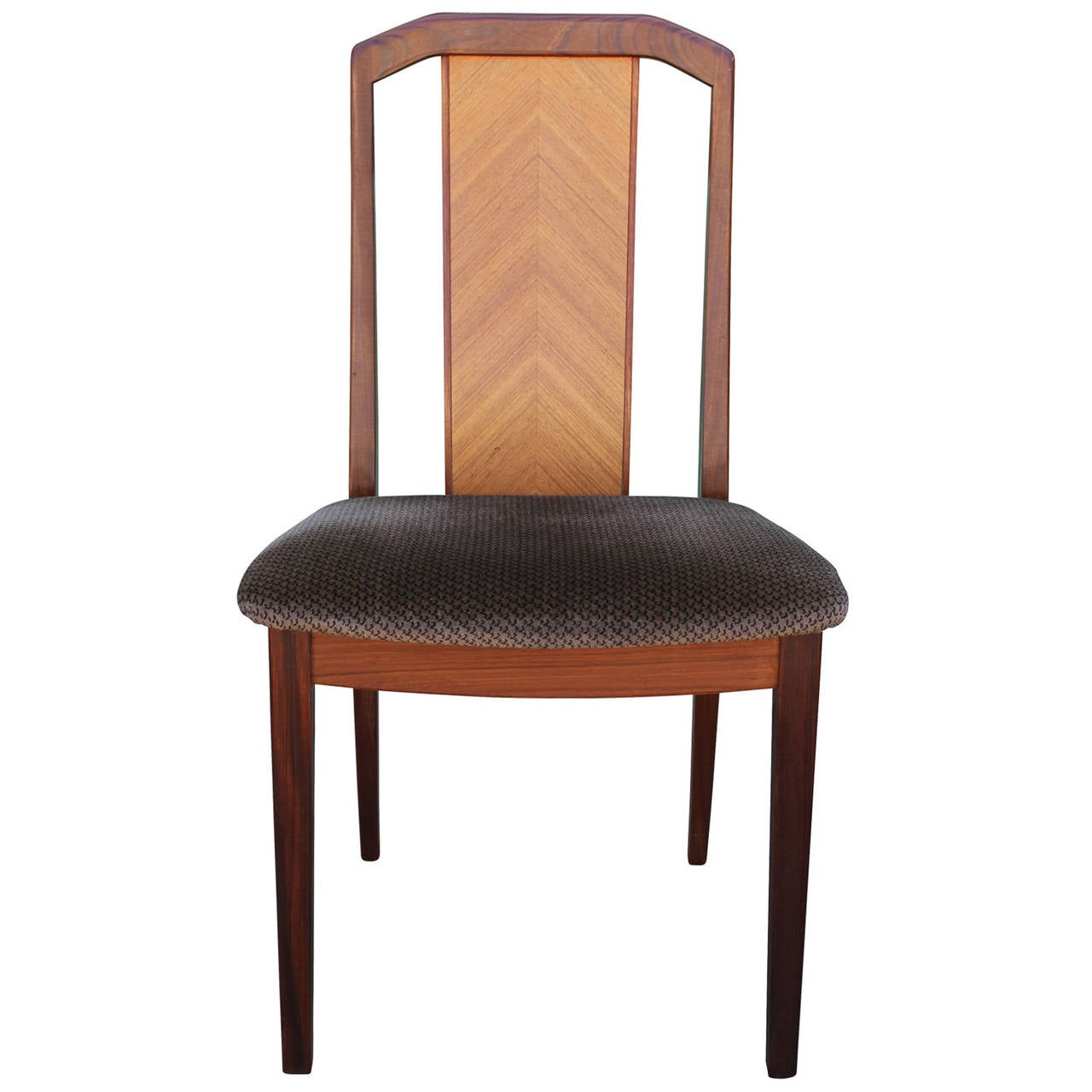Beautiful set of six teak english dining chairs at 1stdibs for Beautiful dining furniture