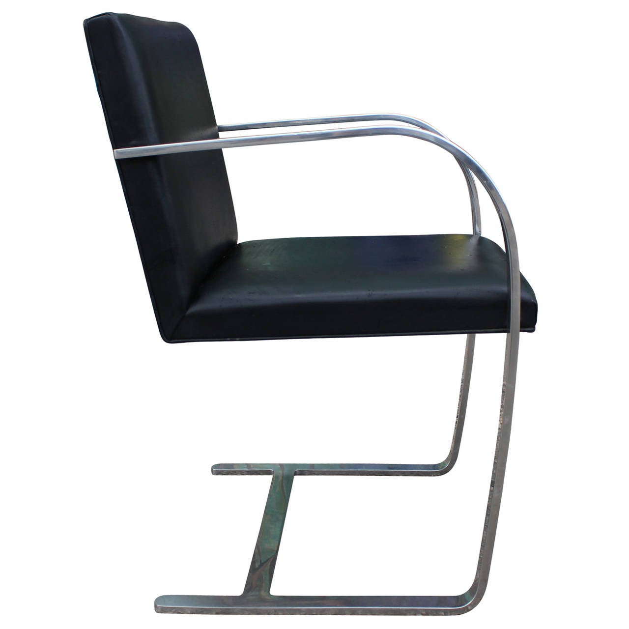 modern knoll brno leather and chrome cantilevered side