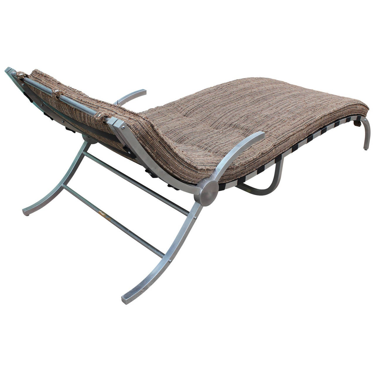 Sculptural Mid Century Modern Aluminum Chaise Lounge For Sale at 1stdibs