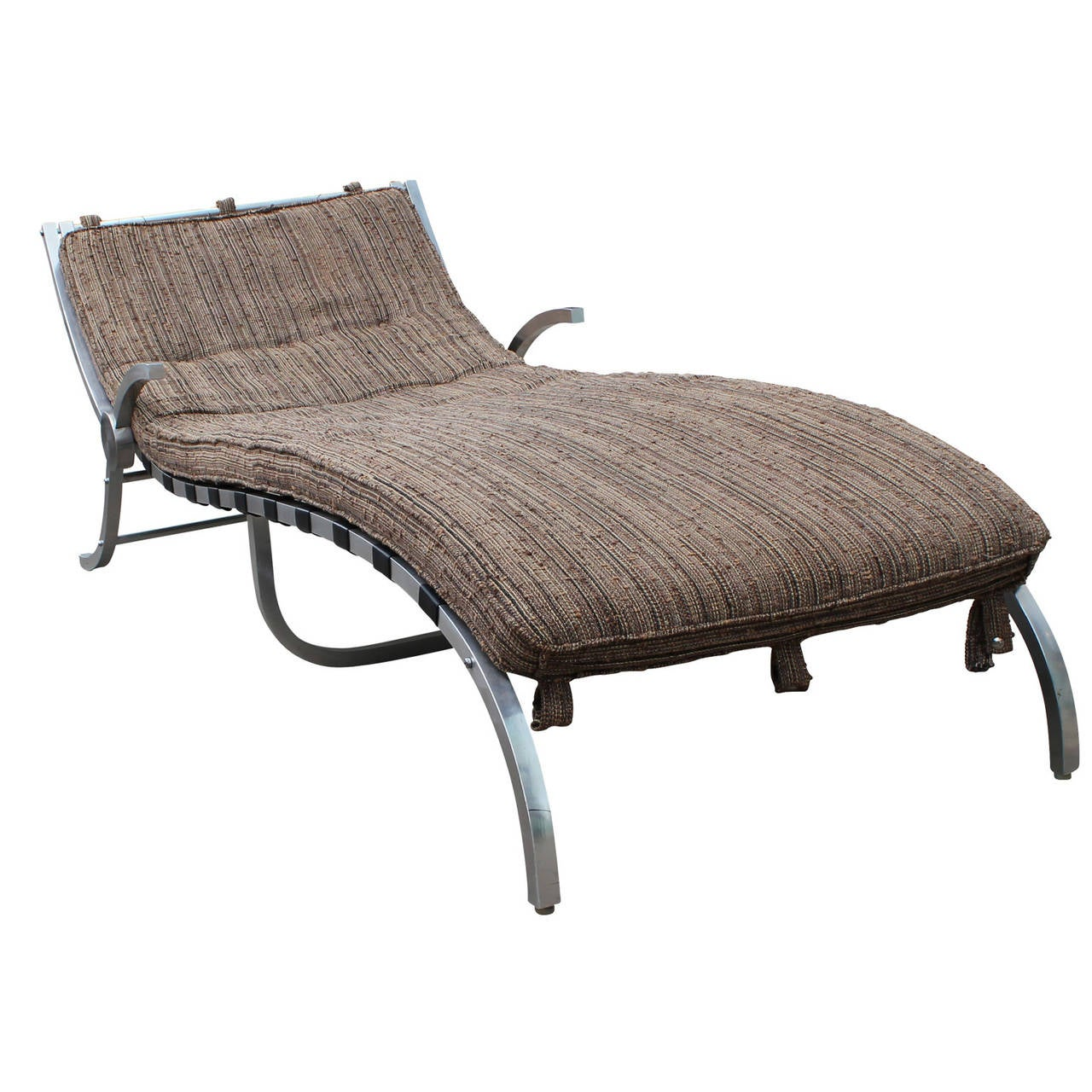 Sculptural mid century modern aluminum chaise lounge for for Aluminum chaise lounges