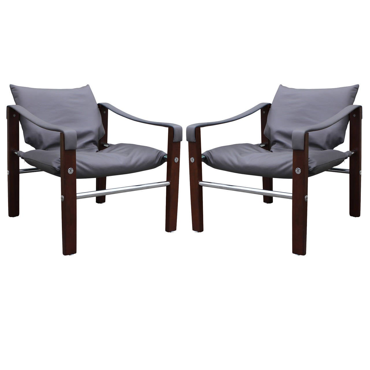 Pair Of Safari Chairs By Maurice Burke For Arkana At 1stdibs