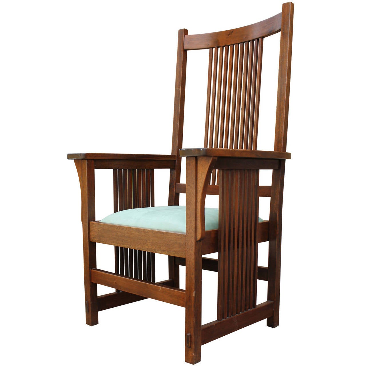 Frank Lloyd Wright Style Armchair At 1stdibs