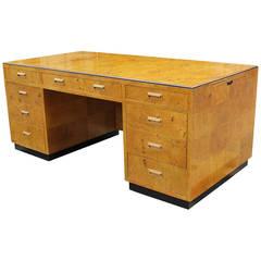 Incredible Henredon Burl Executive Desk