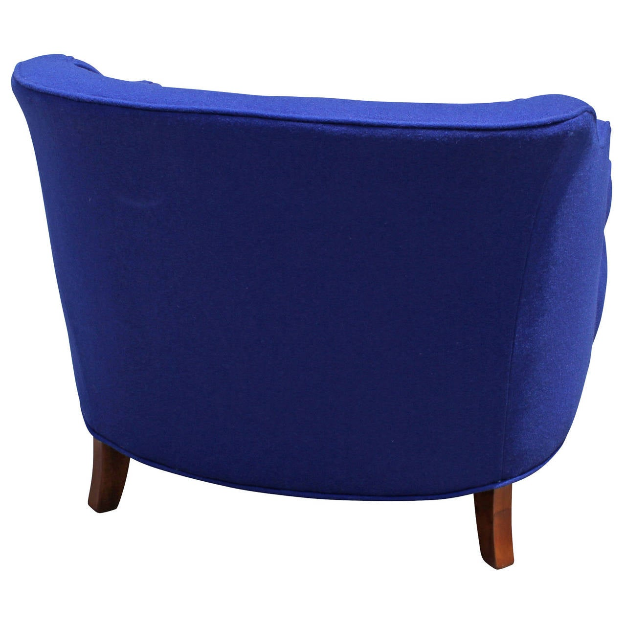 Deep Blue Restored Club Or Lounge Chairs At 1stdibs