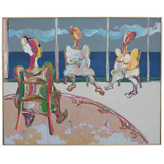 Large Robert Weimerskirch Painting, 1971