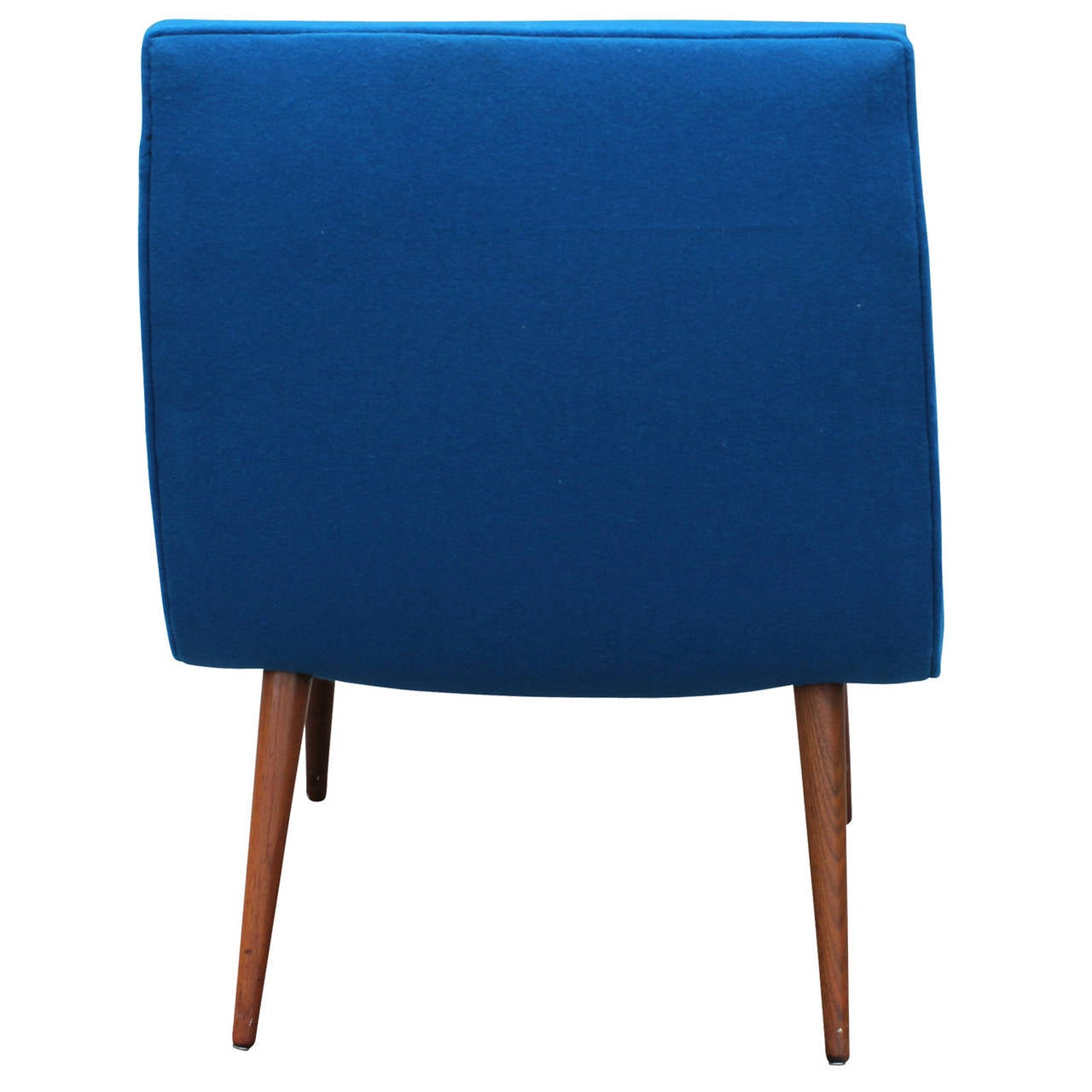 Splendid bold blue scoop chair for sale at 1stdibs