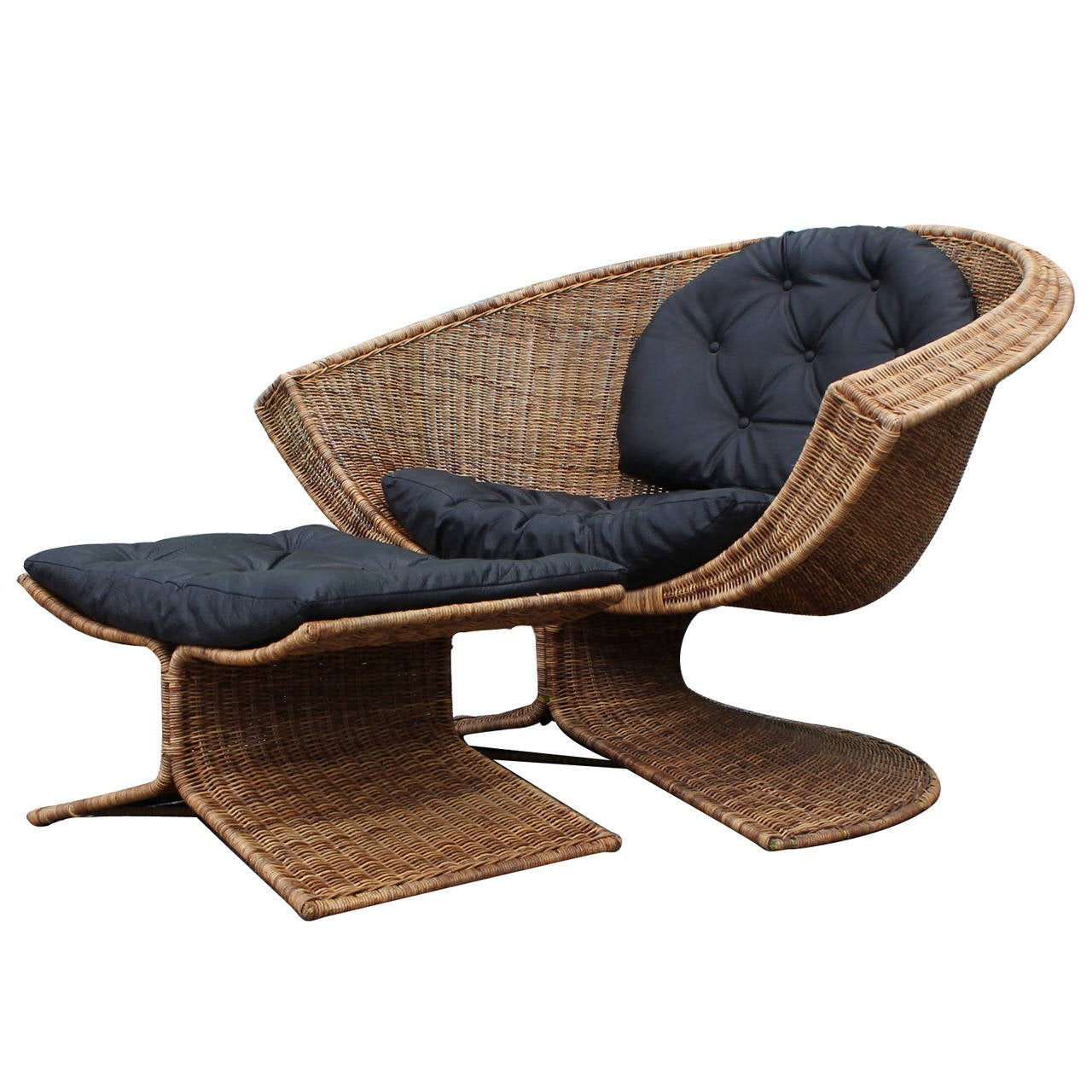 Lotus Chair and Ottoman by Miller Yee Fong for Tropi-Cal at 1stdibs