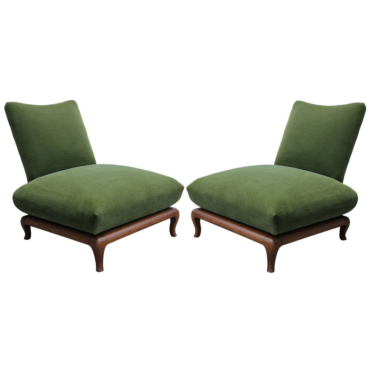 Green slipper chair 28 images pair of mont style green for Slipper chair