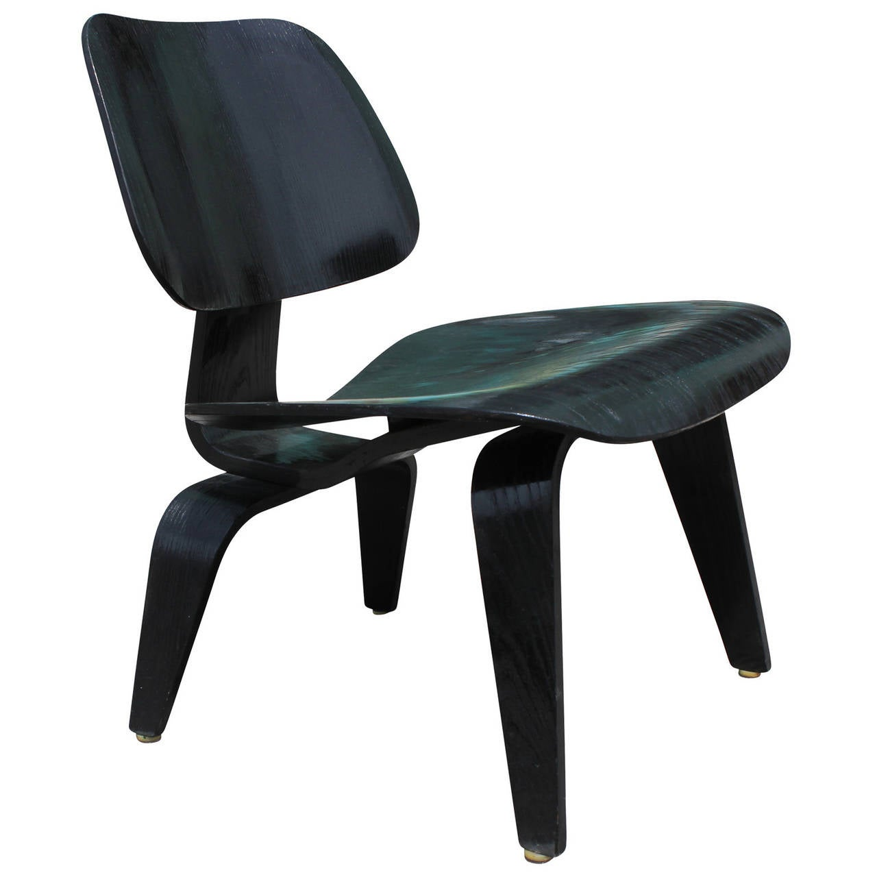 early black eames lcw chair at 1stdibs. Black Bedroom Furniture Sets. Home Design Ideas