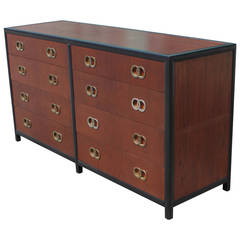 Luxe Michael Taylor for Baker Dresser with Brass Hardware