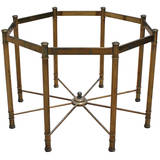 Large brass octagon dining table by mastercraft at 1stdibs for Tejas dining room at t conference center