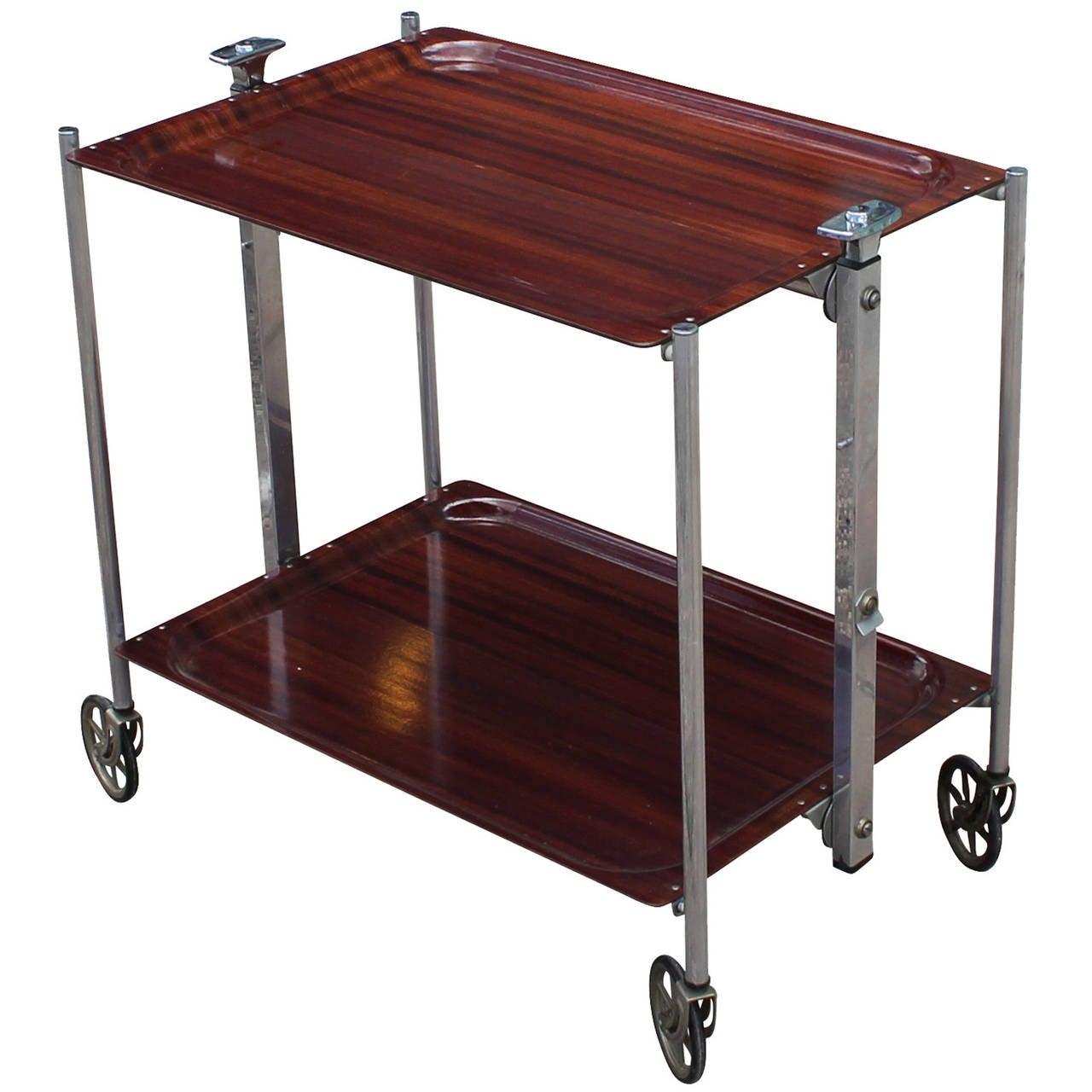 Incredible Folding Bar Cart At 1stdibs