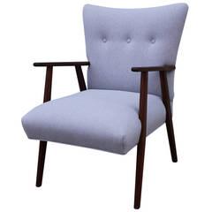 Elegant Grey Danish Lounge Chair
