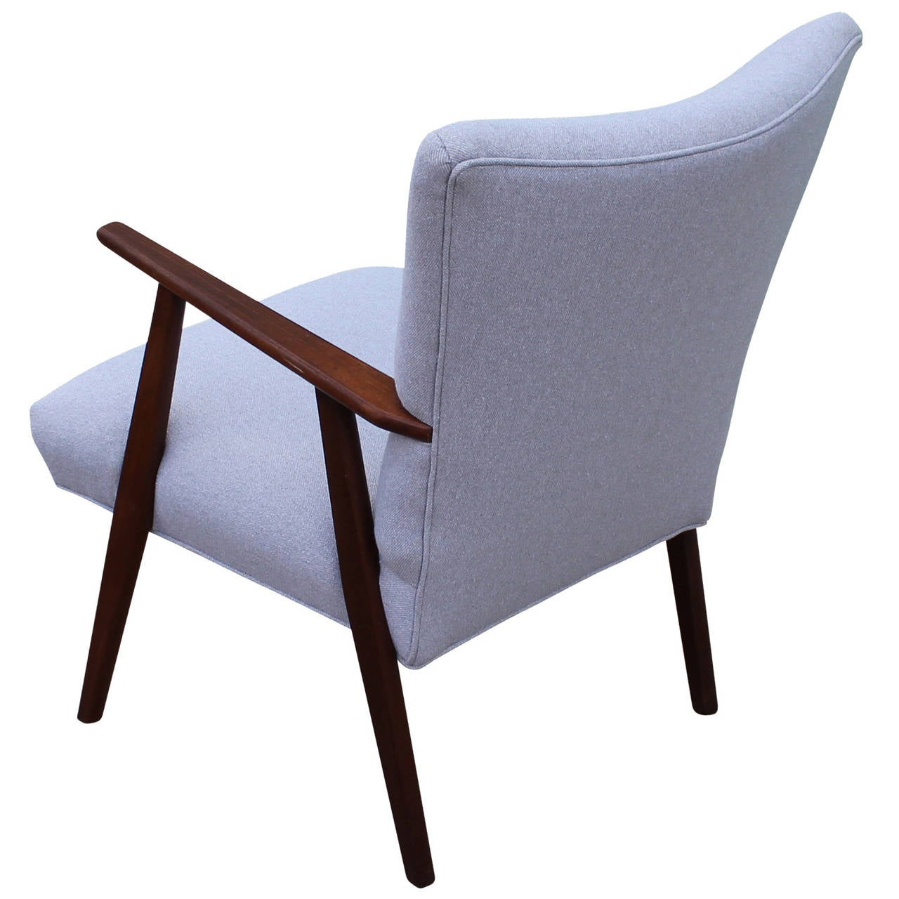 Elegant Grey Danish Lounge Chair at 1stdibs