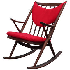 Frank Reenskaug Danish Rocking Chair for Bramin