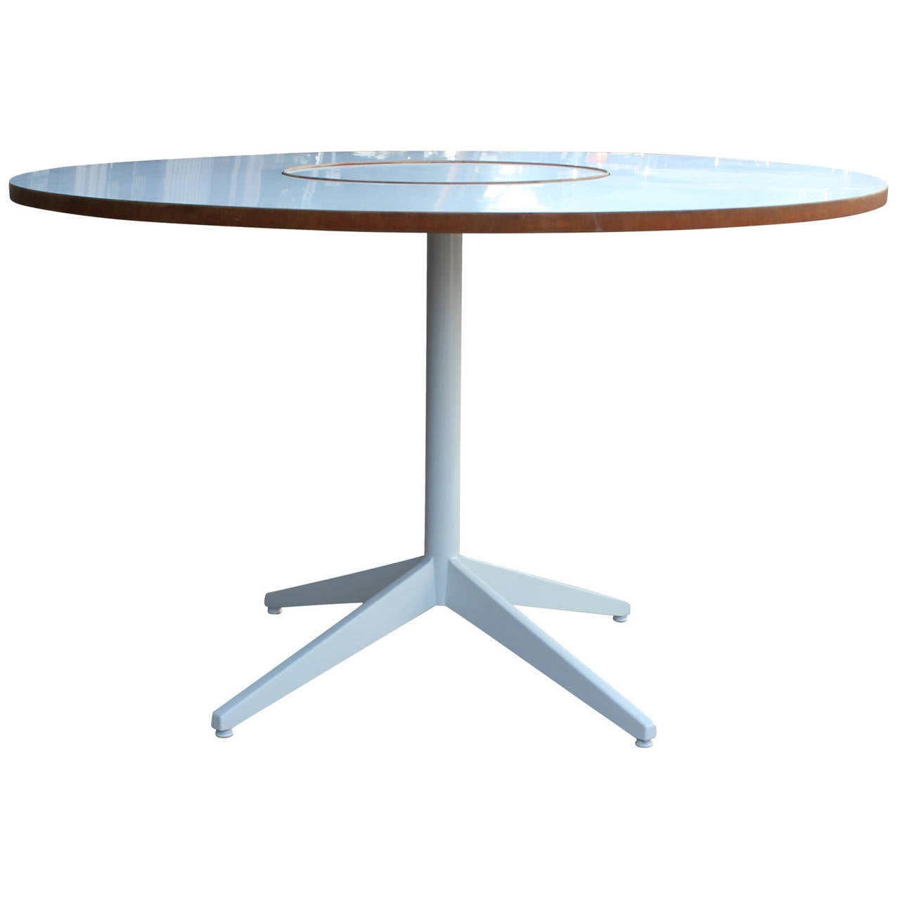 George Nelson For Herman Miller Table With Lazy Susan At
