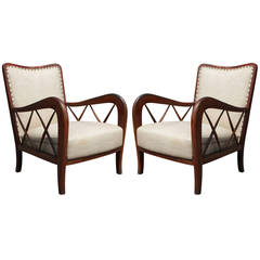 Pair of Paolo Buffa Style Lounge Chairs