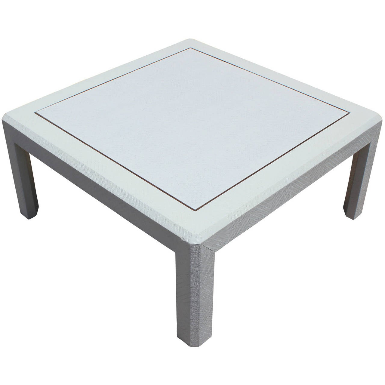 Modern Harrison Van Horn Style Square White Lacquered