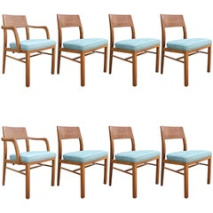 Edward Wormley for Dunbar Set of Eight Mid-Century Modern Dining Chairs