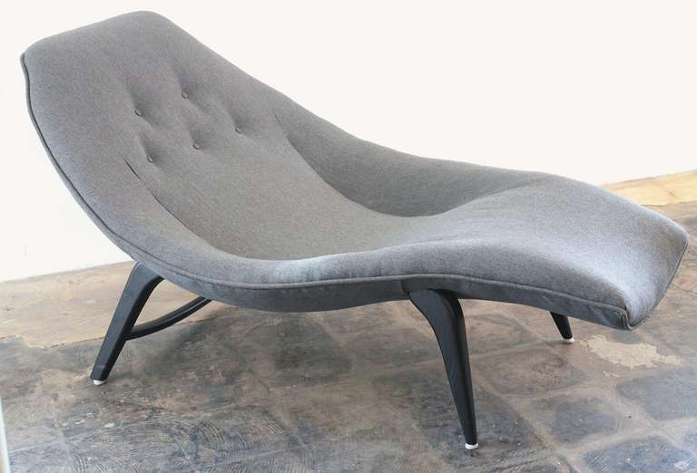 Charmant Incredible Sculptural Wave Form Chaise Or Lounge Chair, In The Style Of  Adrian Pearsall U0026