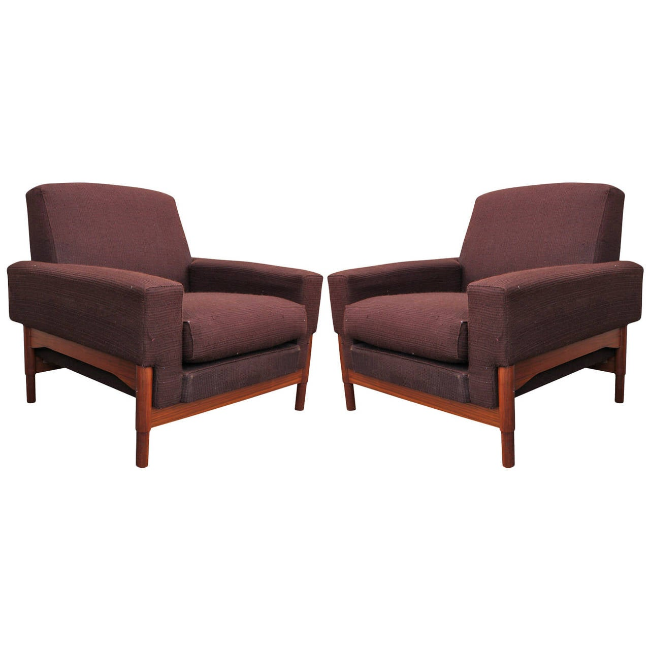 Great Pair of Mid-Century Modern Sculptural Saporiti Lounge Chairs