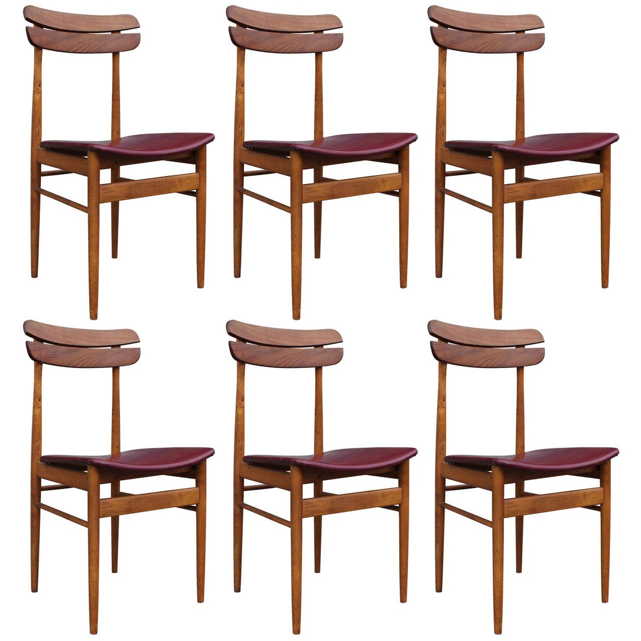 Set of six italian dining chairs at 1stdibs for Italian dining room sets