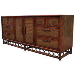 Faux Bamboo and Cane Campaign Dresser
