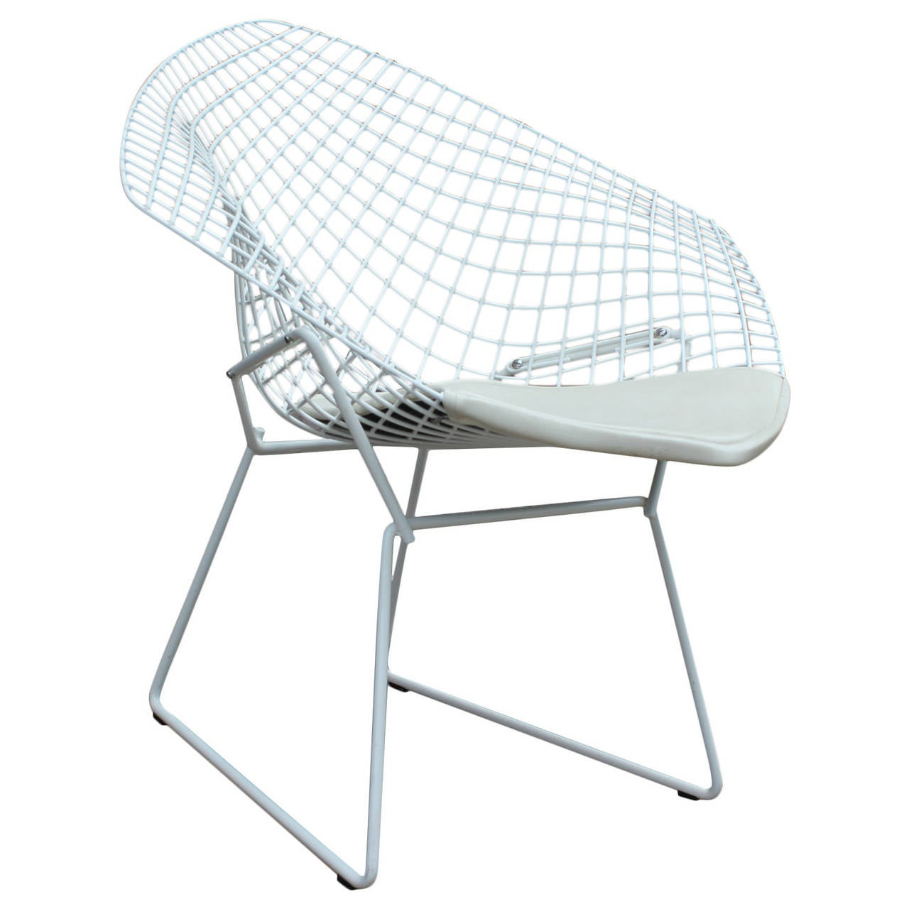 Bertoia diamond chair black - White Diamond Chair By Harry Bertoia For Knoll 1