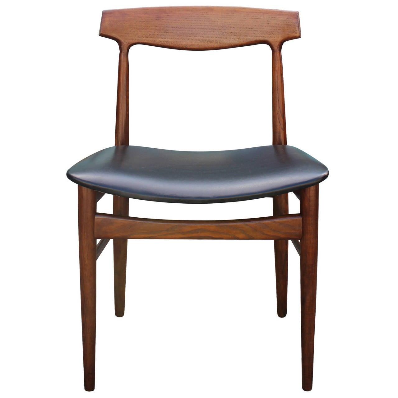 Danish Modern Dining Chair: Set Of Eight Mid Century Modern Danish Dining Chairs For
