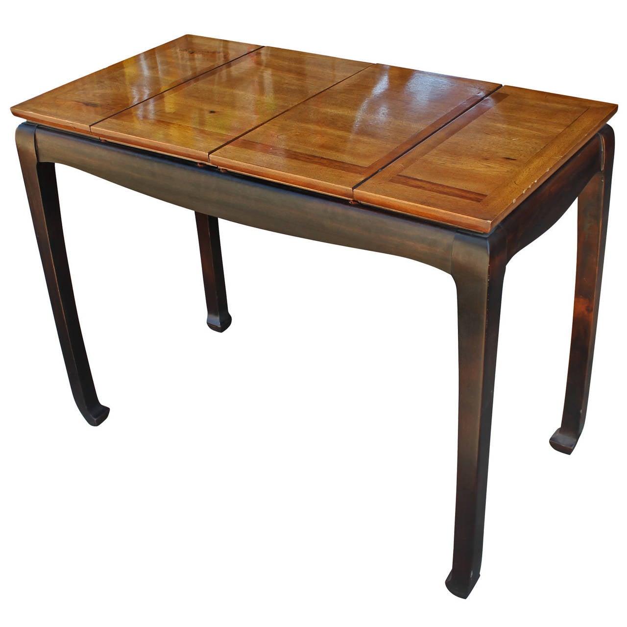 modern walnut backgammon game table at 1stdibs. Black Bedroom Furniture Sets. Home Design Ideas