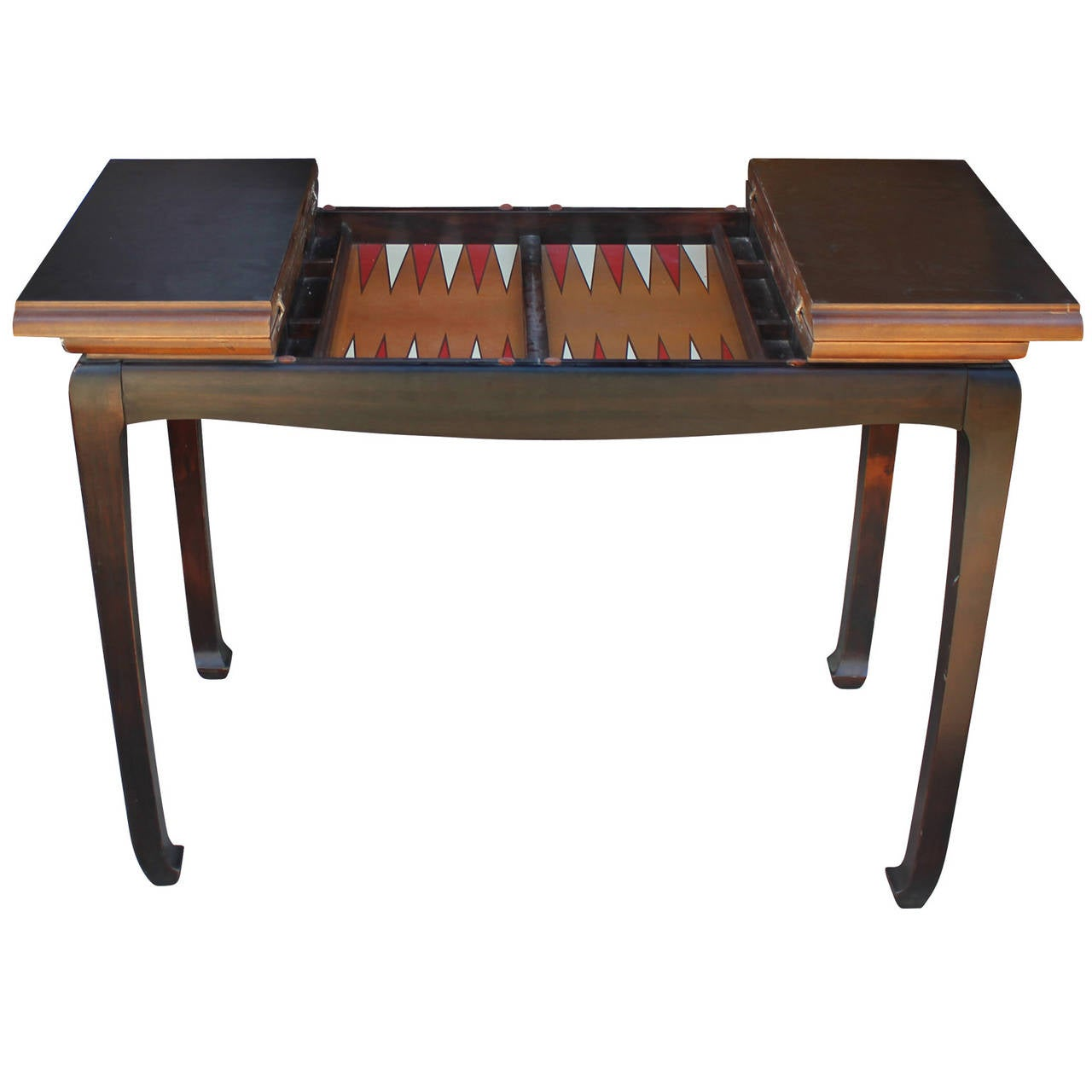 Modern walnut backgammon game table at 1stdibs for 10 games in 1 table