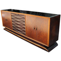 Monumental and Stunning Burl Italian Sideboard