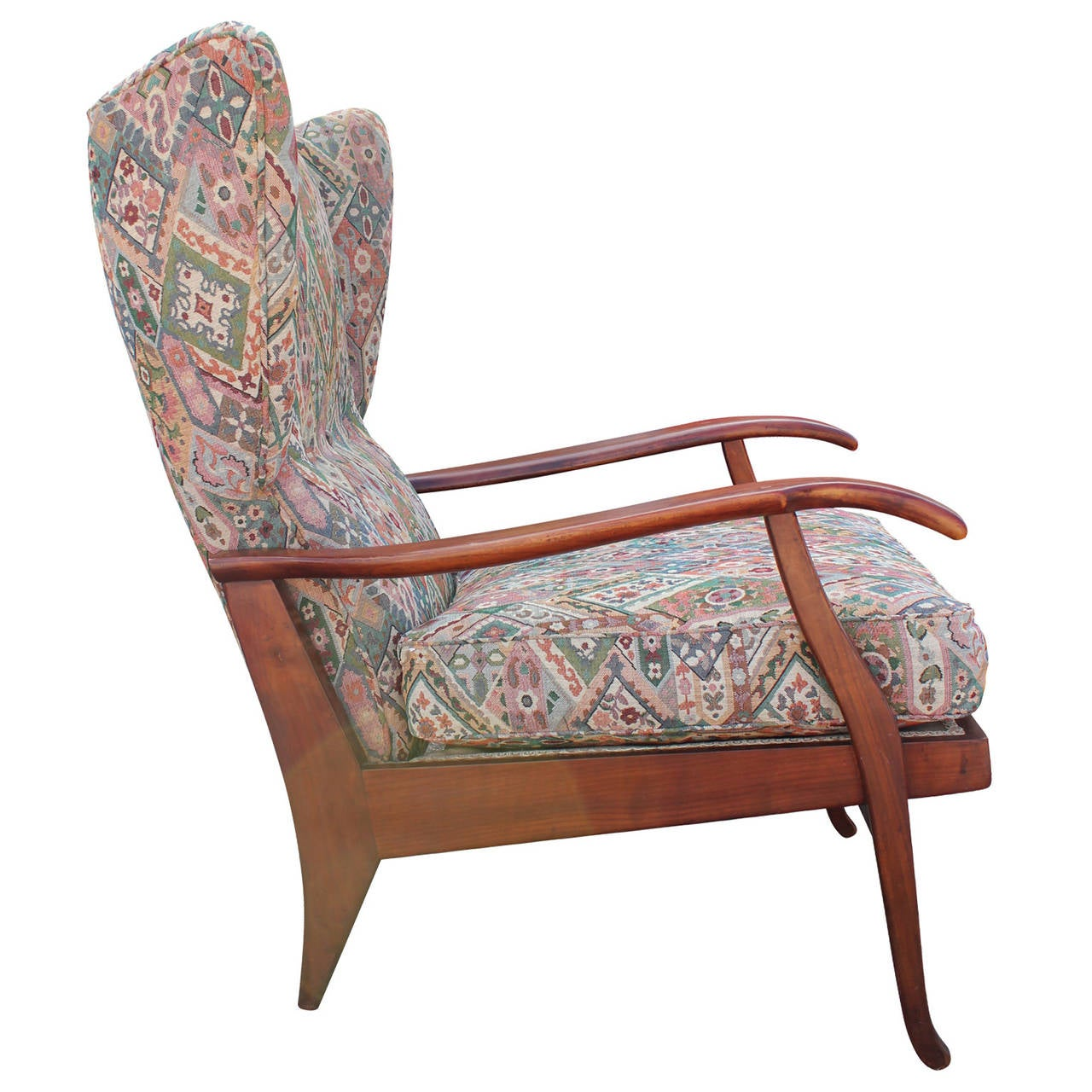 Pair of Modern Italian Wingback Reclining Chairs in the