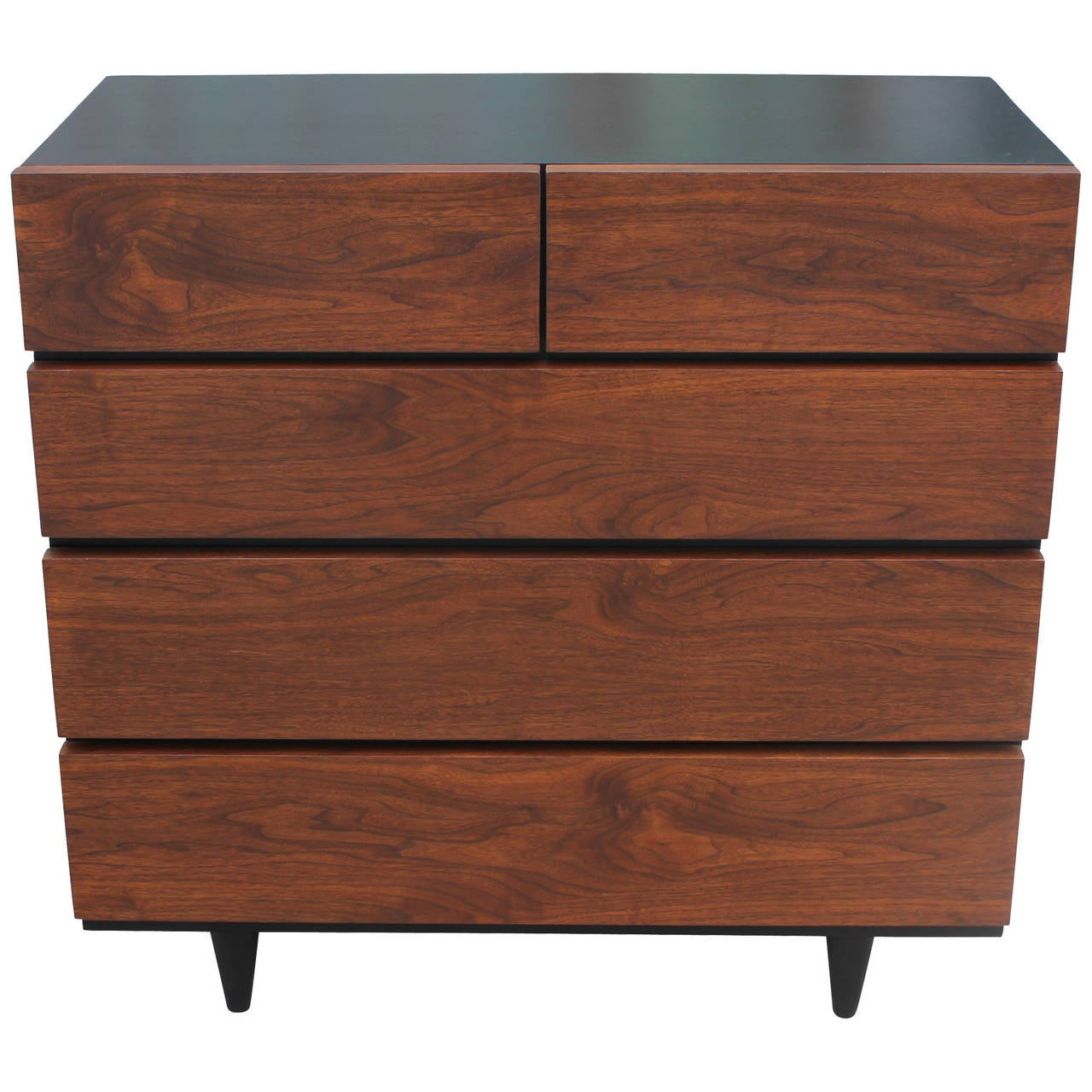 Sleek Two Tone Dresser By American Of Martinsville At 1stdibs