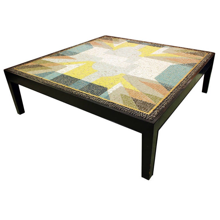 Monumentual Tile Mosaic Table At 1stdibs