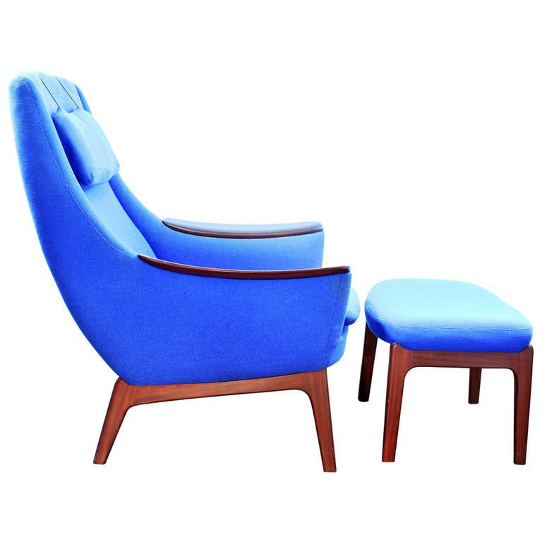Stunning Modern Lounge Chair And Ottoman By Lk Hjelle Or