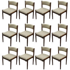 Set of 12 Chairs by Cassina Gianfranco Frattini