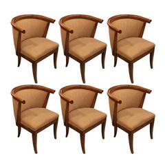 Set of Six Harold Schwartz for Romweber Chairs