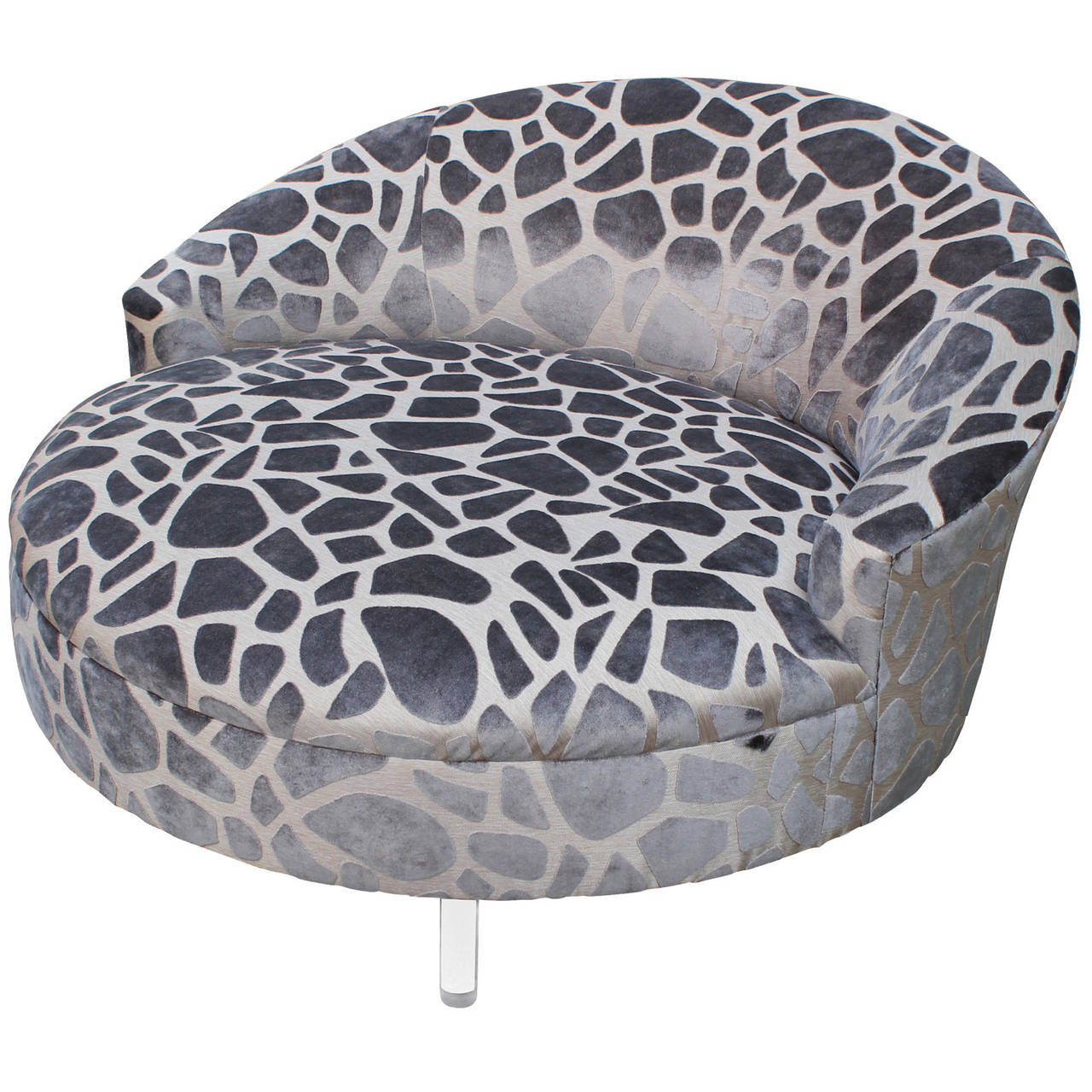 Lucite Leg Circle Lounge Chair in the Style of Harvey Probber at 1stdibs