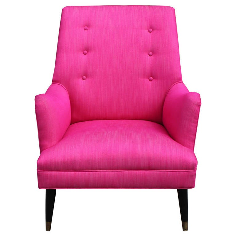 Bold Pink Lounge Chair 1