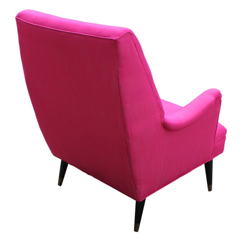 Bold Pink Lounge Chair 4