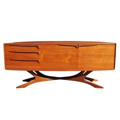 Sculptural Beithcraft Teak Sideboard