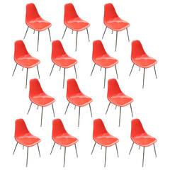 Orange Burke Eames Style SideChairs 5 availible